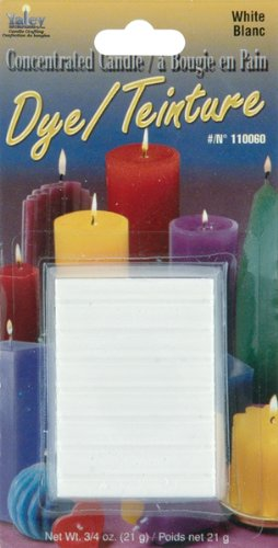 Yaley Concentrated Candle Dye Blocks, 0.75-Ounce, White 110000D-60