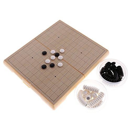 Lovoski  プラスチック製 囲碁 ボードゲーム 折りたたみ可能 携帯便利