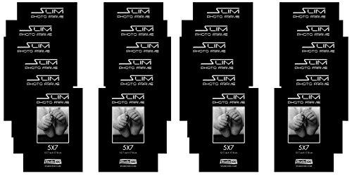 Studio 500, 5 by 7-inch, Slim Photo Frame, Black, 24-Pack