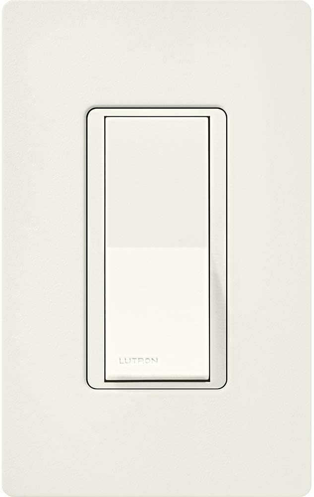 Lutron Claro On/Off Switch, 15-Amp, Single-Pole, CA-1PS-GR, Gray - Dimmer Switches -