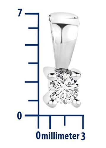 Miore - M9022P - Collier avec Pendentif Femme - Or blanc 375/1000 (9 carats) 1.06 gr - Diamant 0.05 cts - 45 cm