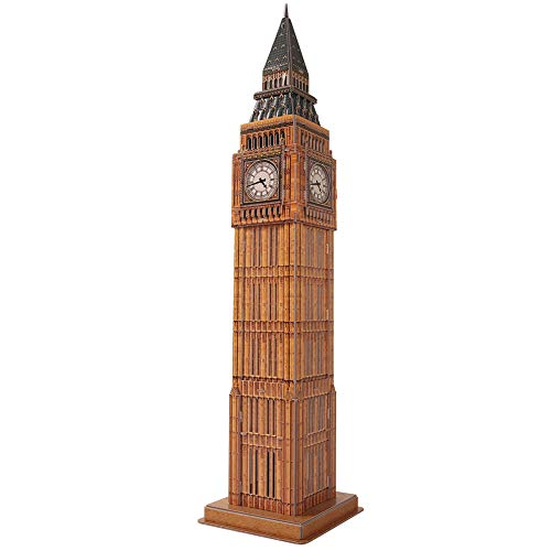 CubicFun 3D London Puzzles Small Britain Architecture Buildings Paper Craft  Model Kits Toys for Adults and Teens, Big Ben, 30 Pieces