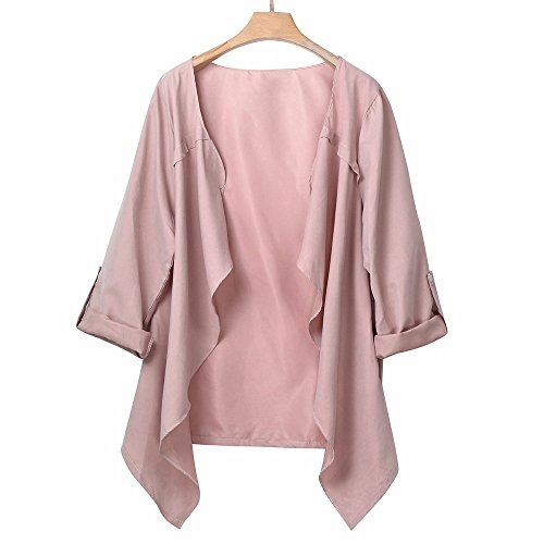 Tops Autumn DEELIN Clearance Sale Spring Cardigan Women Overcoat Turn Down Long Long Solid Size Collar Fashion Loose Pink Winter Sleeve Plus Coat wSvYq