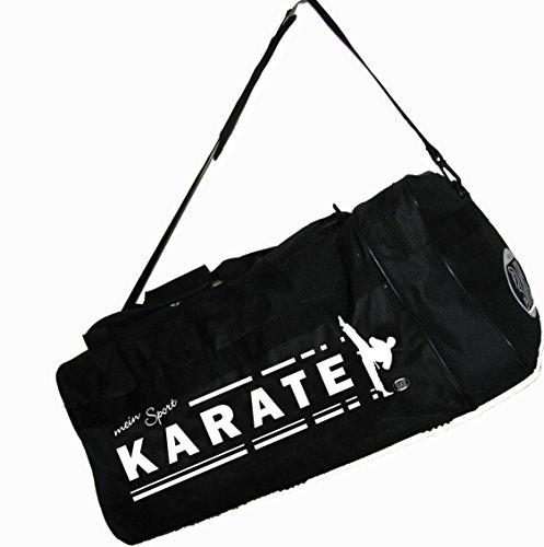 """BAY® XL Sporttasche """"mein Sport"""" KARATE, Kumite Budo Tasche, Trainingstasche, Karatetasche Bag, schwarz, 70 x 32 x 30 cm KATA Kampfsport Karate-Tasche mit Aufdruck Druck Motiv Bild Karatesport Club Sp"""