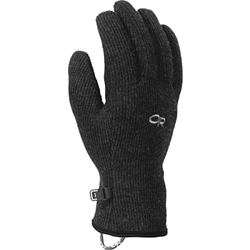 Outdoor Research Men's Flurry Sensor Gloves, Black, Large (Best Gloves For Warmth Uk)