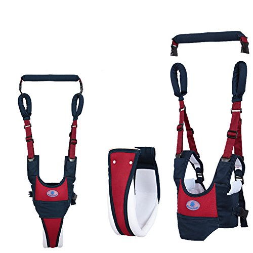 Baby Walking Assistant Toddler Walking Harness Handle Baby Walker, Standing Up and Walking Learning Helper for Baby, 4 in 1 Functional Safety Walking Walker Harness for Baby 7-24 Month(Blue)