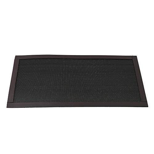 BQLZR - Filtro de Polvo magnetico Cuadrado de plastico Negro para el Polvo de los Ventiladores del chasis del Ordenador del hogar Negro Negro 12x24x0.05cm/4.72x9.44x0.019Inch(LxWxH)