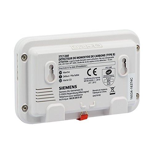 Siemens - Detector de monóxido de carbono (daaco) Siemens Delta Reflex Certificado NF 10 años Autonomía - Garantía 10 Años: Amazon.es: Bricolaje y ...