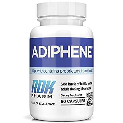 Adiphene - Fat Burner and Weight Loss Pills With 12 Fat Burner Ingredients - 60 Caps / 1 Month Supply