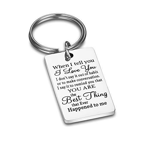 CJ&M Husband Keychain When I Tell You I Love You Husband Gift Boyfriend Gift,Wife Gift,Dad Gift, Men Gift (Best Christmas Gift For My Boyfriend)