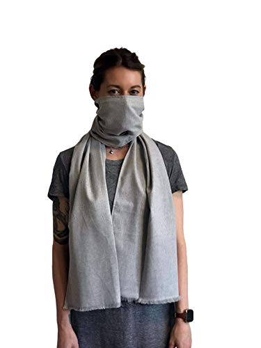 (Pollution Protection Scarf Filter Mask Maximum protection Jasper (Grey))