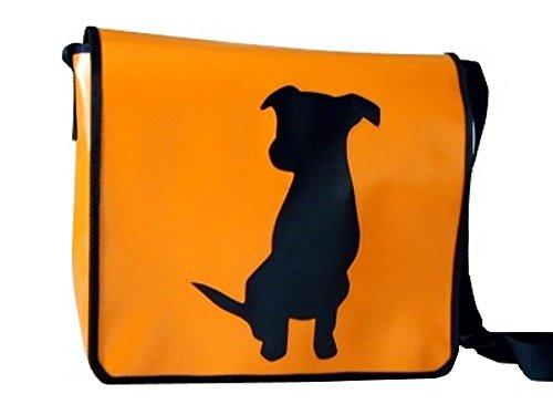 Schultertasche Hundemotiv Schwarz Sheyna H 30 B 32 T 11