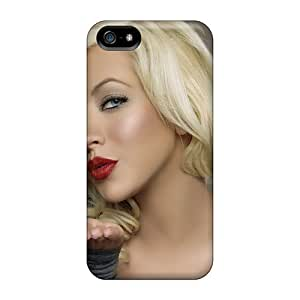 Durable Case For The Iphone 5/5s- Eco-friendly Retail Packaging(christina Aguilerasinger)