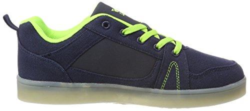 Lico Jungen Disco Low Boy Sneaker Blau (Marine/Lemon)
