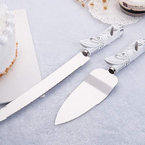 Cake Shovel Set Butterfly Design Party Decoration Knife Stainless Steel Wedding(27X5X2, - Knife Cake Butterfly