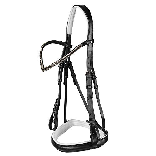 - Horze Eclipse Bridle, Black, Pony