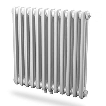Radiador tubular acero agua caliente blanco Horizontal 2 columna h750 mm l1300 mm calefacción Central 1500