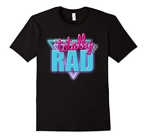 [Men's Totally Rad Retro Halloween Costume 1980s T-Shirt 3XL Black] (80s Movies Costumes)