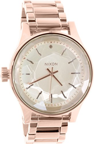 Nixon Facet Gold Dial Stainless Steel Quartz Ladies Watch A384-897 by NIXON