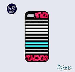 iPhone 5 5s Tough Case - MIx Stripes PInk Zebra iPhone Cover
