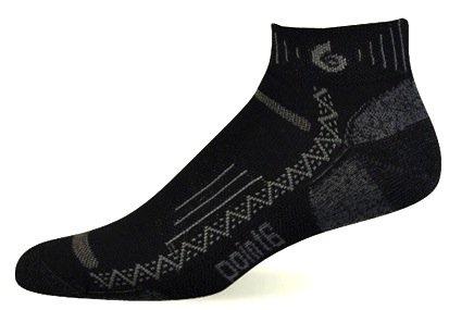 point6 Men's Hiking Tech Extra Light Mini Socks (Black, Small)