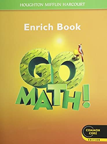 math worksheet : go math! student enrichment workbook grade 5 houghton mifflin  : Harcourt Math Worksheets Grade 5