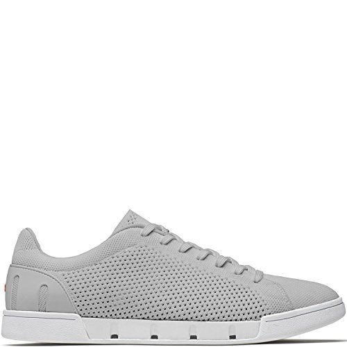 SWIMS Men's Breeze Tennis Knit Sneakers Light Gray/White 10.5 M US