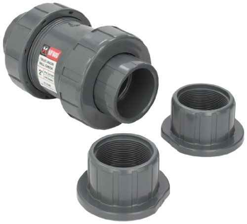 Hayward TC10200STE 2-Inch PVC TC Series True Union Check Valve with EPDM Seals and Socket/Threaded End Connection