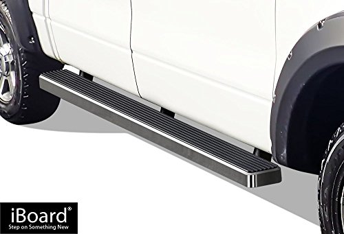 2005 Ford F150 Heritage Edition - APS iBoard Running Boards (Nerf Bars | Side Steps | Step Bars) for 2004-2008 Ford F150 SuperCrew Cab Pickup 4-Door (Excl. 04 Heritage Edition) | (Silver 5 inches)