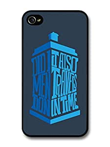 Doctor Who Tardis Minimalist TV Series Quote case for iPhone 4 4S