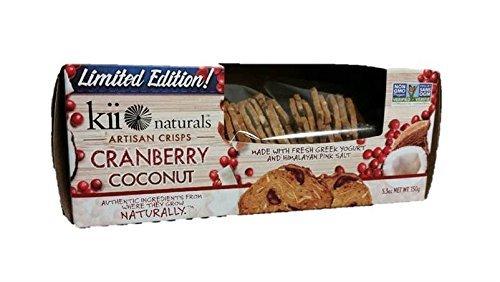 Kii Naturals Crisps - Cranberry Coconut - Case of 12 - 5.3 oz.