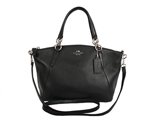 Coach Leather Small Kelsey Cross Body Bag, Small, Black