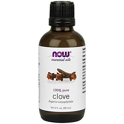 Now Essential Oils, Clove Oil, Soothing Aromatherapy Scent, Steam Distilled, 100% Pure, Vegan, 2-Ounce