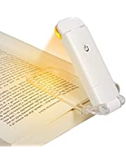 DEWENWILS Amber Book Reading Light, USB Rechargeable Book Light for Reading in Bed, Blue Light Blocking, 3 Brightness Levels, LED Clip On Book Lights for Kids, Bookworms