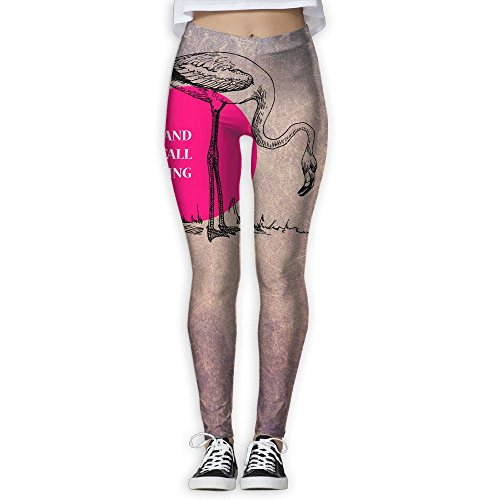 Darling Alphabet (Hkmu Design Track Stand Tall Darling Pink Flamingo Bird Fashion Sports Pants For Women Girls)