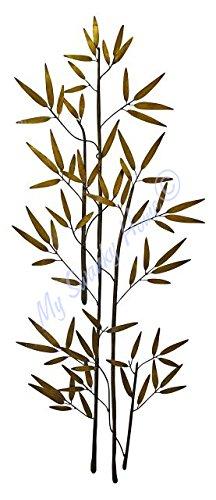 60'' Bamboo Branch Gold Metal Wall Art | Tall Asian D?cor (Bamboo Branch)