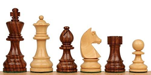 German Knight Staunton Chess Set with Acacia & Boxwood Pieces - 3.25