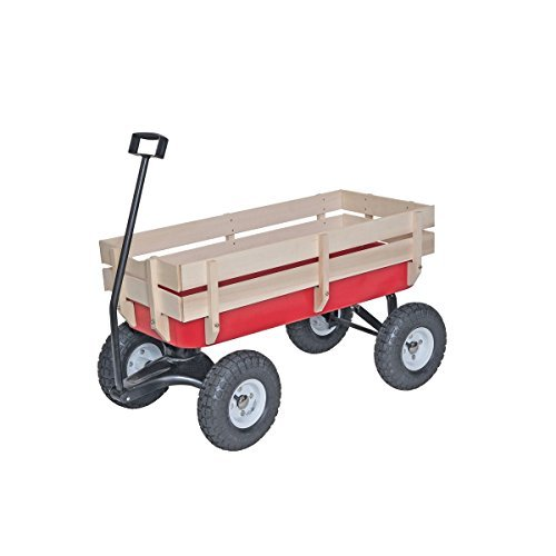 Panel Wagon - HF tools Bigfoot All-Terrain Steel and Wood Wagon