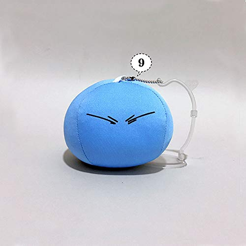 WJ- That Time I Got Reincarnated As A Slime Plush Toy Relief 4'' Toy Pendant Mobile, Computer, U Disk, Gift (B)