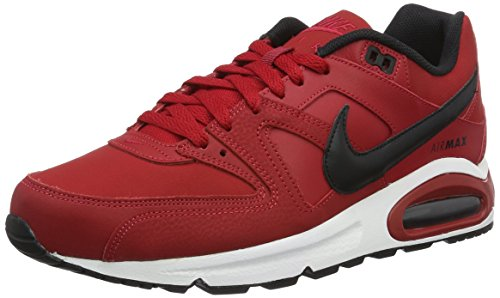 Nike Air Max Command Leather, Zapatillas de Running para Hombre Rojo (Gym Red / Black-White)