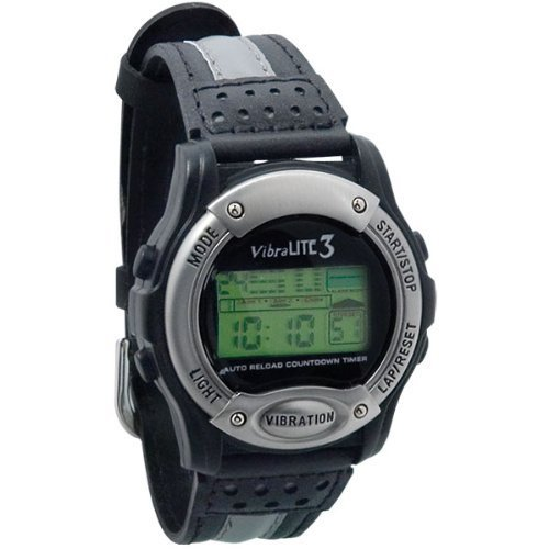 Vibralite 3 Black with Black Leather Band, Watch Central