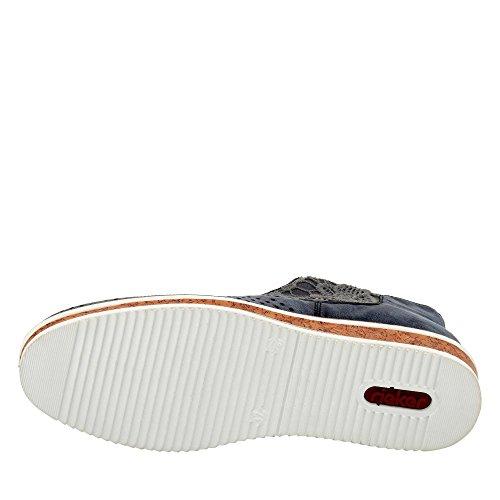 L0949 Rieker Les Sneaker Femmes Bleu Eq55f