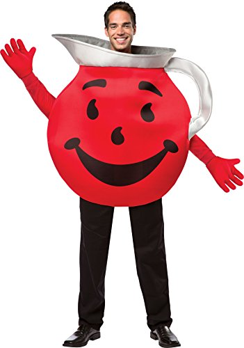 Kool Aid Man Halloween Costume (UHC Men's Kool Aid Guy Pitcher Retro Comical Theme Party Adult Halloween Costume,)