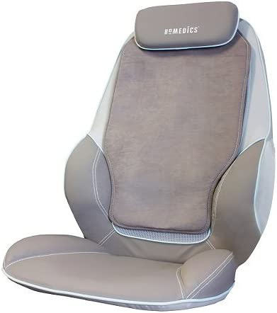 HoMedics Shiatsu Max Back and Shoulder Massager - Deluxe Massage Chair, Relaxes Shoulder, Back and Upper Leg Muscles with Shiatsu, Rolling, Vibration, Soothing Heat Treatments + More - Stone Color: Amazon.co.uk: Health & Personal Care