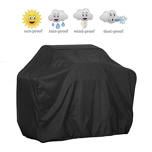 BBQ Grill Cover, MAXTUF 39-inch Gas Barbeque Cover Anti-UV Waterproof Dustproof Weather Resistant Double Stitching 3-4 Burners BBQ Cover Fit Most Brand of Grill (S)