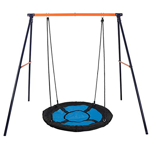 (Tree Swing Max 440 LBs Powder-Coat Painted Steel-Tube Frame with 40