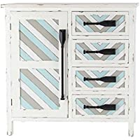 Deco 79 45855 Chest, Blue/Gray/White