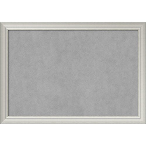 Amanti Art Romano Silver: Outer Size 40 x 28'' Framed Magnetic Board, Extra Large by Amanti Art