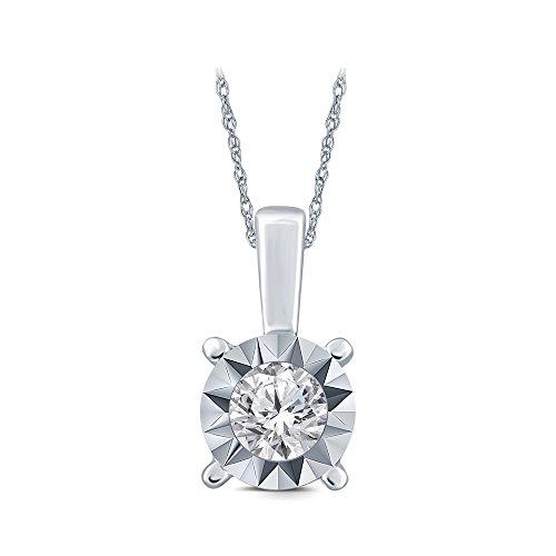 Round Egl Diamond Pendant - 3