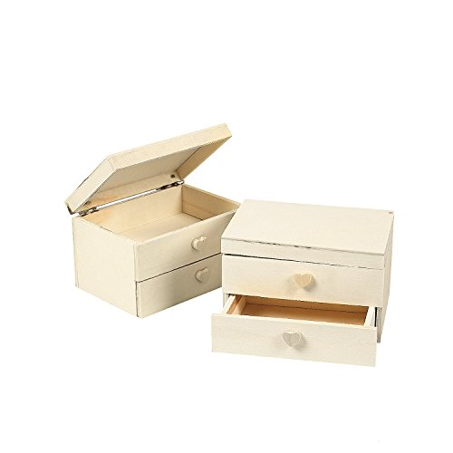 Unfinished Wood Jewelry Box (1 dz)